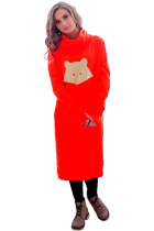 Платье толстовка с енотом