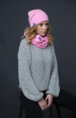 Шапка нежно-розовая