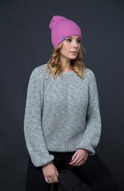 Шерстяная шапка розовая