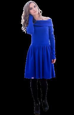 Платье с отворотом на плечи