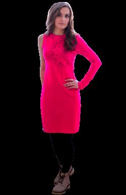 Платье с одним рукавом мандалы