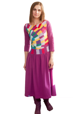 Платье с рукавов три четверти