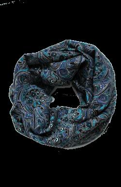 Снуд восточный огурец синий
