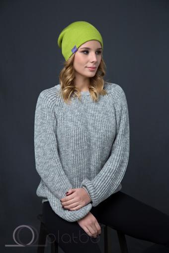 Шерстяная шапка оливковая