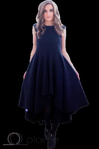Платье с перепадом длины